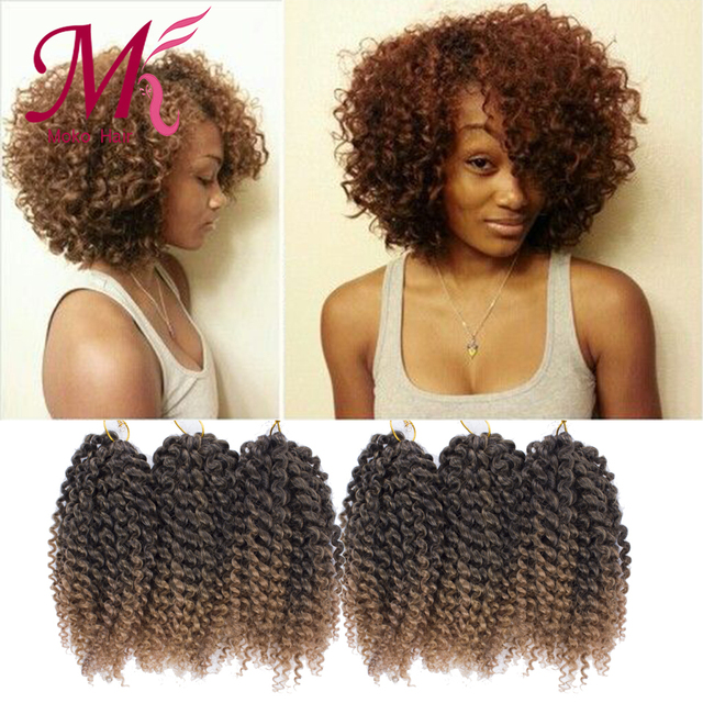 8inch Afro Kinky Curly Hair Crochet Braids Extensions 3pcslot