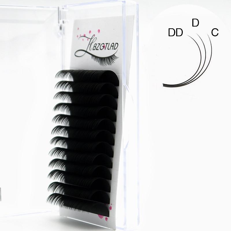 HBZGTLAD Новые C/D/DD 8-20 мм Искусственные норковые Индивидуальные ресницы Maquiagem Cilios для профессионалов, мягкие норковые ресницы для наращивания