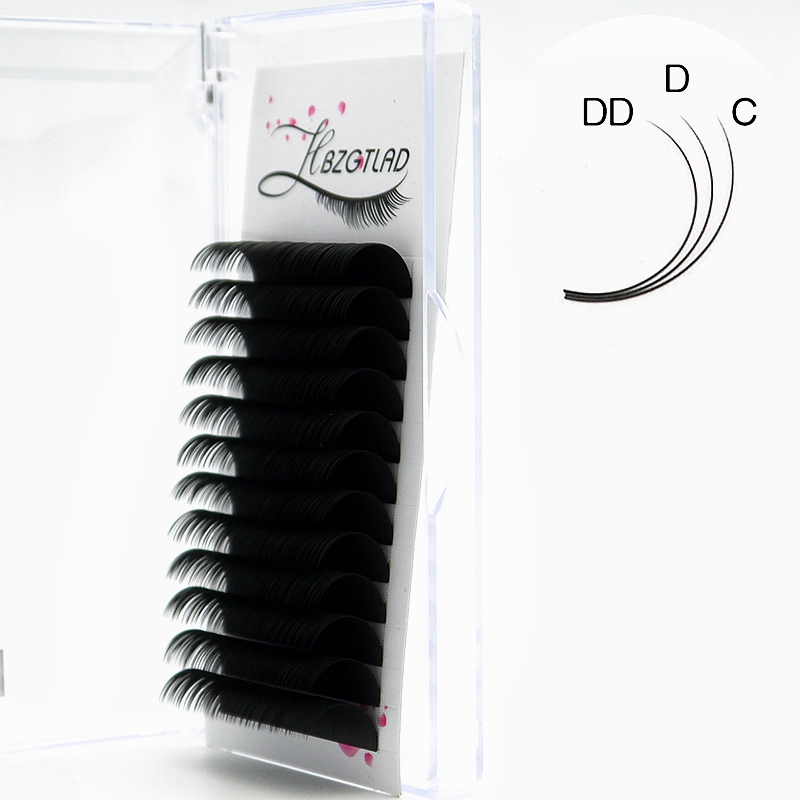 HBZGTLAD New C/D/DD 16-20mm Faux Mink Individual Eyelash Lashes Maquiagem Cilios For Professionals Soft Mink Eyelash Extension