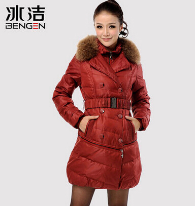 Women Coats and Jacket Parkas Winter Long Thick Duck Faux or Real Collar Plus Size Slim Parka Lady's Warm Jacket H5725