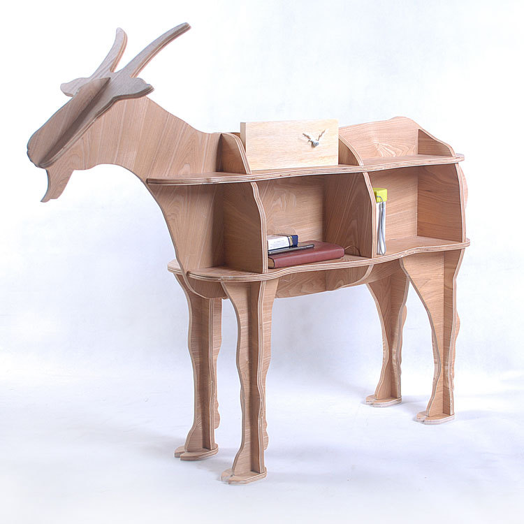 Beau 100% Wood Goats Animal Table European DIY Arts Crafts Home Decorative Wood  Craft Gift Desk Self Build Puzzle Furniture Decor In Coffee Tables From  Furniture ...
