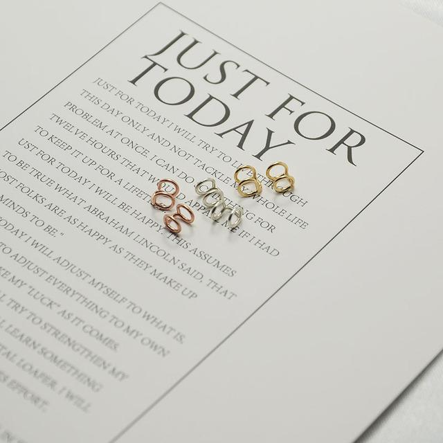Handmade Small circle Tragus Clip Earrings