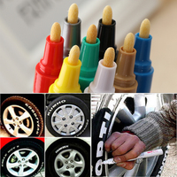 1PC Colorful Universal Waterproof Permanent Motorcycle Car Tyre Tread Paint Marker Pen Hand Tools Machine Tools & Accessories