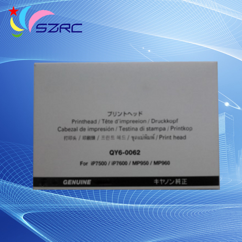Original Print Head QY6-0062 Printhead Compatible For Canon iP7500 iP7600 MP950 MP960 MP970 Printer Head high quality original print head qy6 0057 printhead compatible for canon ip5000 ip5000r printer head