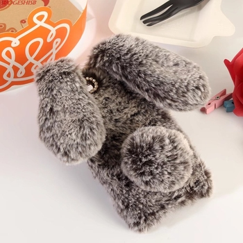 3D Królik Bunny Toy Przypadku Wysokiej Jakości Sztuczne Cony Włosów TPU Pokrywa dla Xiaomi Redmi Note Note4 Uwaga2 Uwaga 4X2 3 4 4A 4X Pro