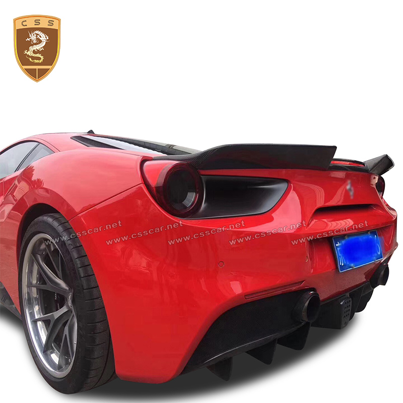 Us 9999 55 Offhigh Quality Carbon Fiber Rear Spoiler Wings Suitable For Ferrari 488 Gtb Modified Car Accesories Styling Hot Auto Rear Spoilers In