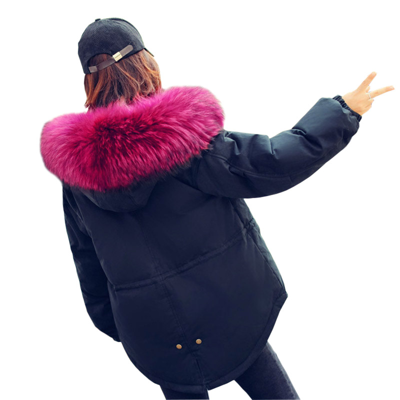 2017 Winter Soft Real Fur Collar New Womens Jacket Fashion Down Coat Girls Padded Slim Women Coat White Duck Down FP0121