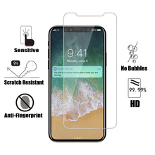 Screen Protector Tempered Glass For iPhone X XS MAX XR Front Film Protective On The 8 7 6 6S Plus
