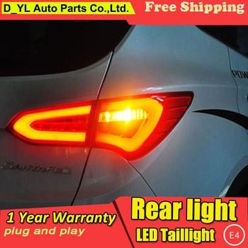 Car Styling LED Tail Lamp for Hyundai IX45 Taillights New Santa Fe Rear Light DRL+Turn Signal+Brake+Reverse auto Accessories led
