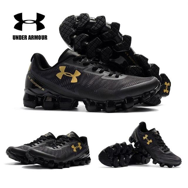 Under Armour UA Scorpio Menjalankan Sepatu Pria Ban Ban Ban 2 Zapatillas Hombre Lampu Bernapas Bantalan Sneakers Pria Sepatu Olahraga