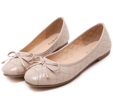 Size 4~9 Ballet Flats Red Women Shoes Elegant Bowtie Summer Women Flats Shoes sandalias mujer (Check Foot Length)