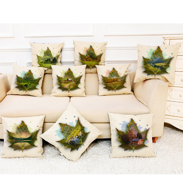 New Home Cushion Cover Maple Leaf Scenery Pillowcase Chair Throw Pillow Covers Maple Leaf Scenic Cushion Cover 2019 hot A30430