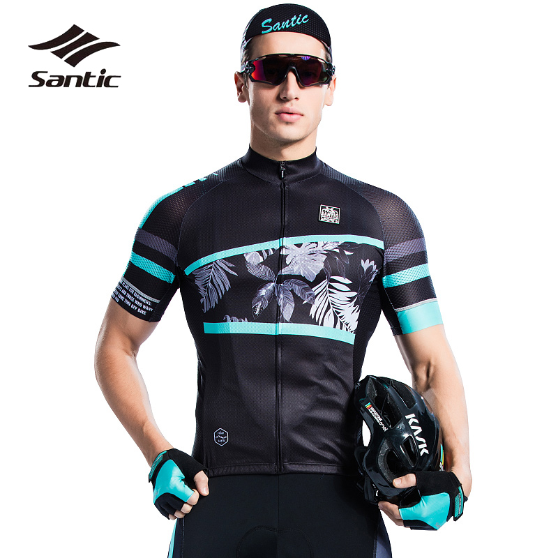 Santic Men Cycling Jersey 2018 Pro Team Short Sleeve MTB Jersey Breathable Cool Road Mountain Bike Jersey Bicycle Shirt Maillot santic cycling clothing women short sleeve breathable cycling jersey sets padded road mountain bike shorts 2018 bicycle clothes