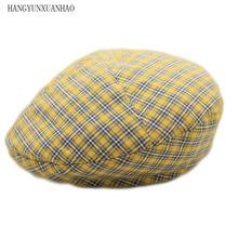 HANGYUNXUANHAO Men Berets Hat Autumn New Vintage Herringbone Octagon Cap WomenS Casual Pumpkin Gatsby Flat Beret Hats