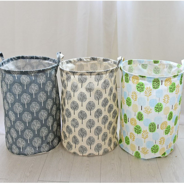 Hot Selling Folding Fabric Dirty Clothes Canvas Laundry Storage Basket  Rattan Large Toy Storage Bags Hanging