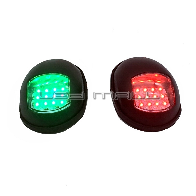 One Pair Marine Boat Yacht 12V Port/Starboard LED Navigation Lights Red and Green Pair jyq 084 flower and leaves pattern eye shadow stickers set red green pair