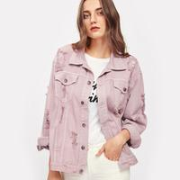 Denim Jacket Autumn Womens Jacket Single Breasted Casual coat