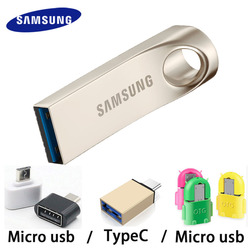 SAMSUNG USB Flash Drive Disk 16Gb 32G 64G 128G USB 3.0 Metal Mini Pen Drive Pendrive Memory Stick Storage Device U Disk for PC