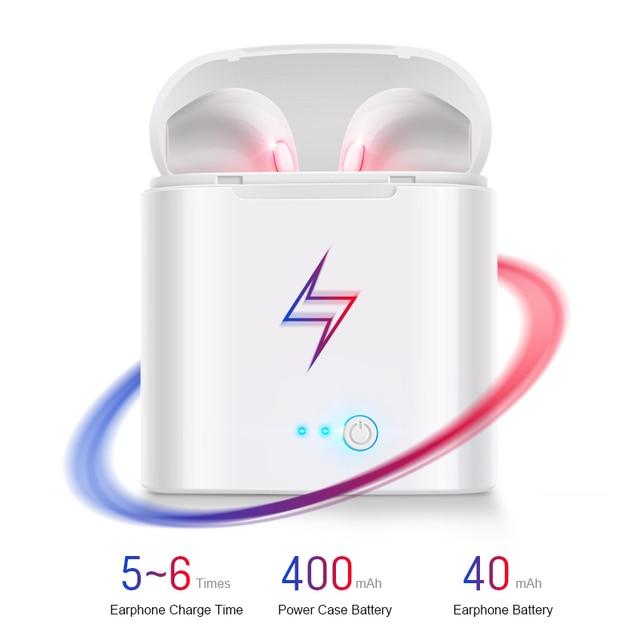 IBESI i7s TWS Wireless Headphones Bluetooth Earphone Sport Stereo Earbud Headset With Charging Box For iPhone Xiaomi huawei 1