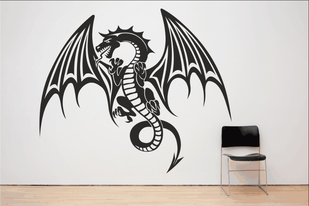 spitfire dragon wall decal mythical vinyl houseware stickers for kids room art mural special