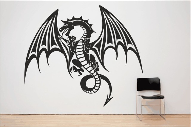 Amazing Spitfire Dragon Wall Decal Mythical Vinyl Houseware Stickers For Kids Room  Art Mural Special Animal Home