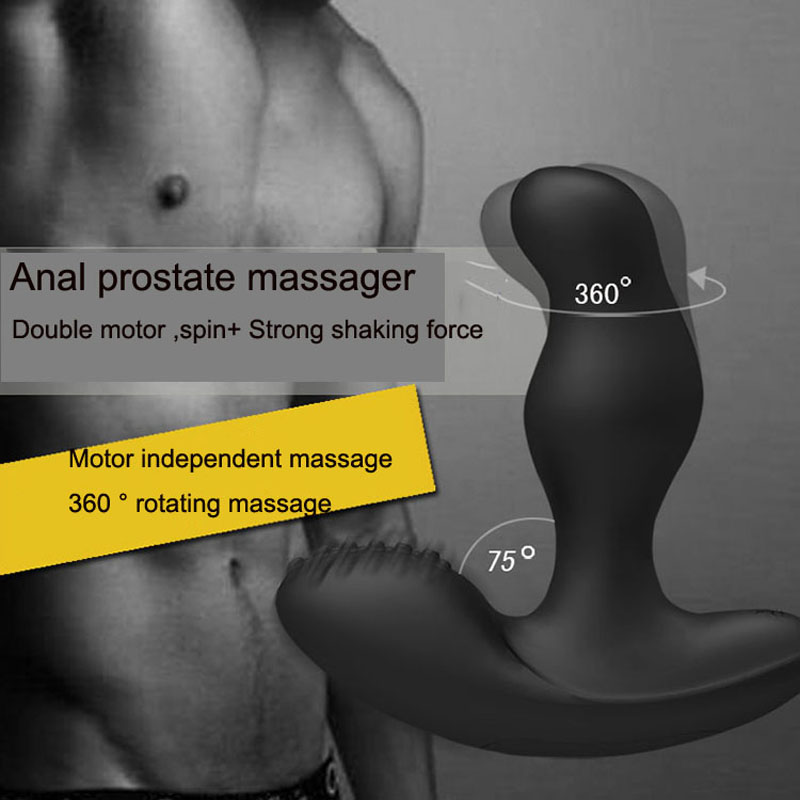 Large Silicone G spot Anal vibrator prostate massager Adult Sex Toys For Man Gay Black Butt Plug Sex Toys Adult Sex Products removable handle heating vibrating butt plug male prostata massage sex toys for men gay g spot anal plug usb prostate massager