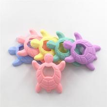 Chenkai 10 шт силиконовая черепаха для прорезывания зубов diy