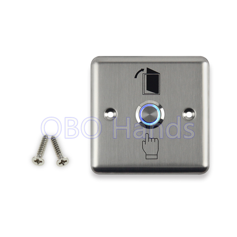 Free shipping high quality stainless steel door release door exit button with blue backlight LED for access control system-LG1 free shipping door stopper door holders for sale high suction