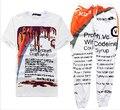2015 Nueva Actavis jarabe de codeína Harajuku Impresión 3d t shirt + corredores hombres/mujer Casual pantalones deportivos hip hop traje envío gratis