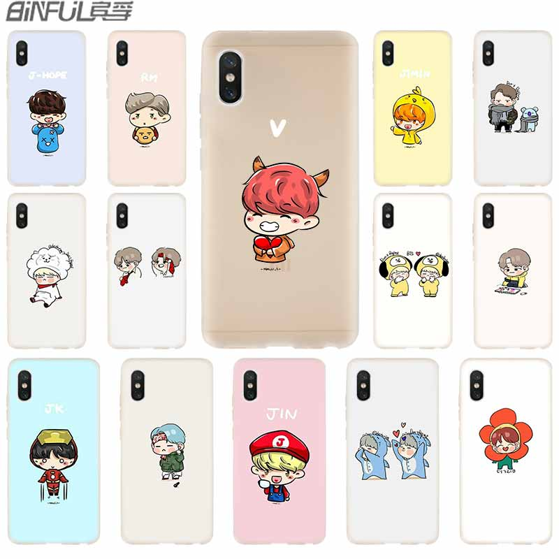 Responsible Cover Soft Silicone Tpu Case For Xiaomi Xiaomi Mi 5x 9 8 A2 Lite 6x F1 Mix 2s Max3 Redmi Note 7 Go Bangtan Boys Bts Star Kpop Phone Bags & Cases Fitted Cases