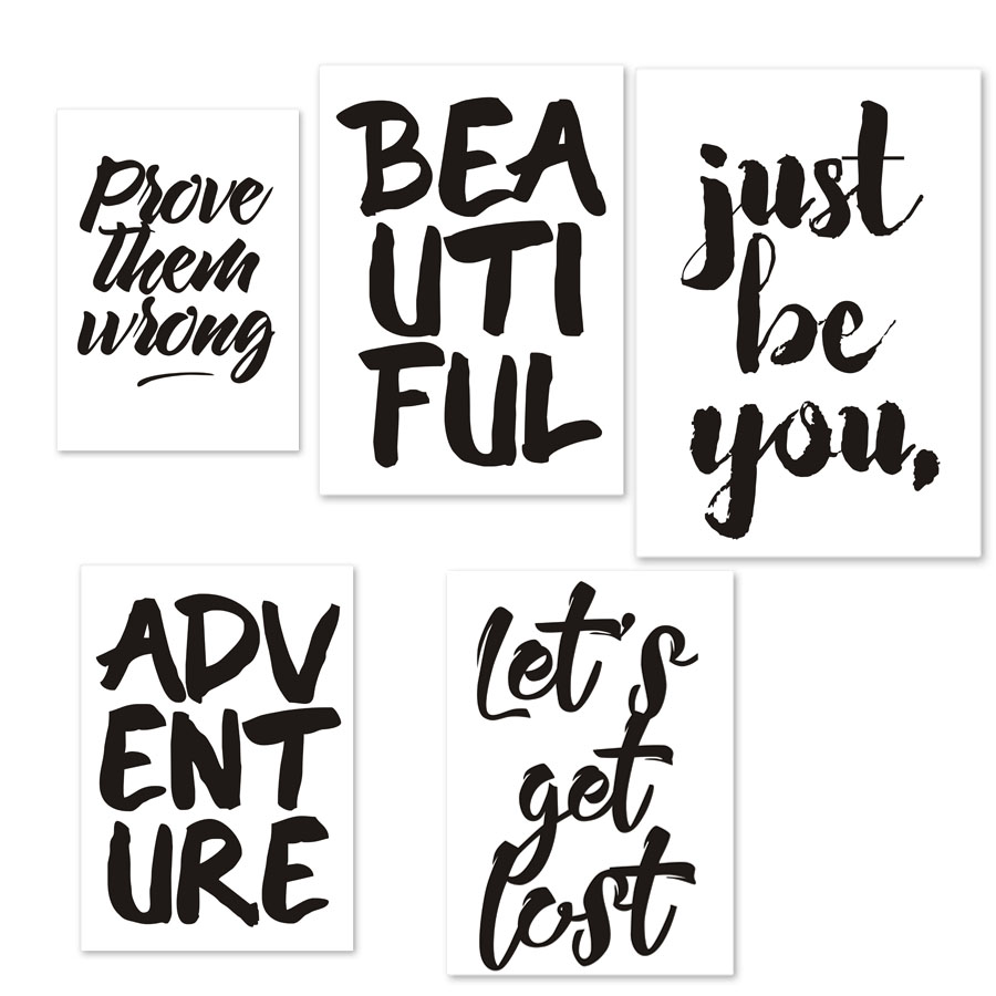 Travel Explore Adventure Quotes Beautiful Art Posters And Prints Corridor Wall Decor Canvas Painting Picture Decoration Unframed In Calligraphy