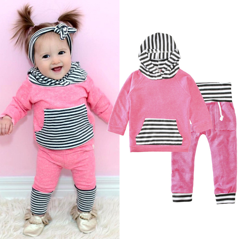 Clothing For Boys/Girl Baby Clothes Sport Suit Tracksuit Costume For Boy Sports Suit Hooded 2pcs Set Short T-Shirt+Pants Kids summer baby boy clothes set cotton short sleeved mickey t shirt striped pants 2pcs newborn baby girl clothing set sport suits