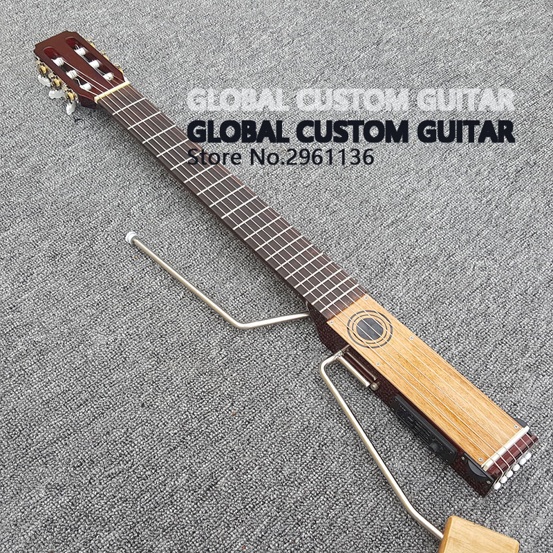 2017 Hot Sale Custom Electric Travel Guitar,classical guitar,Nylon strings,Portable Style,Rosewood Fretboard,with ,free shipping savarez 510 cantiga series alliance cantiga ht classical guitar strings full set 510aj