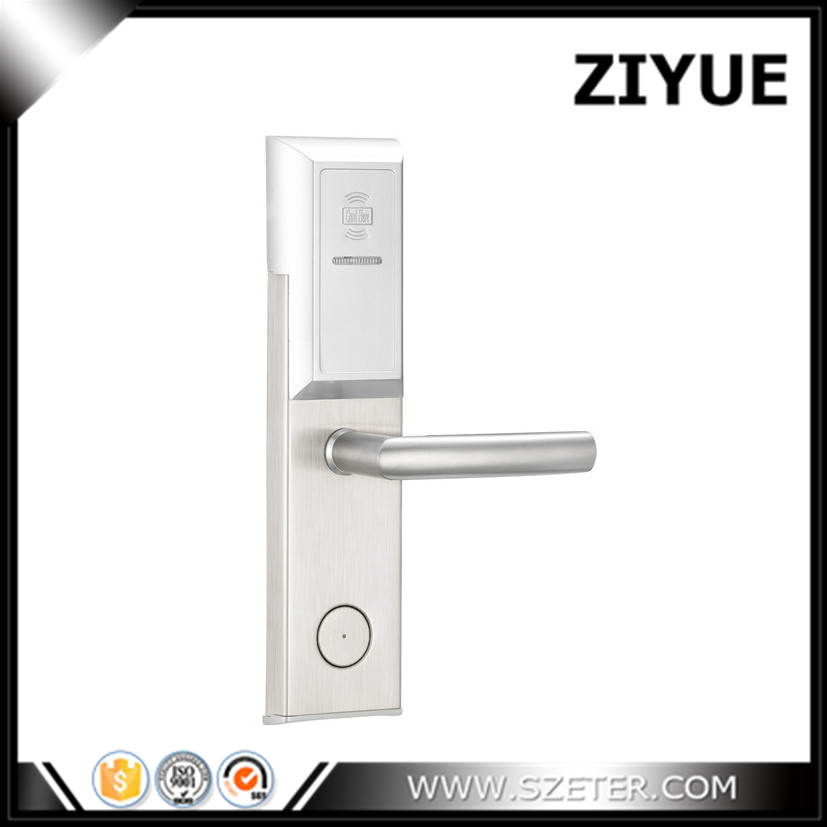 Digital Electric Hotel Lock Cheaper RF  Card Door Lock for Hotel  RFID Access Control System  ET106RF hotel lock system rfid t5577 hotel lock gold silver zinc alloy forging material sn ca 8037