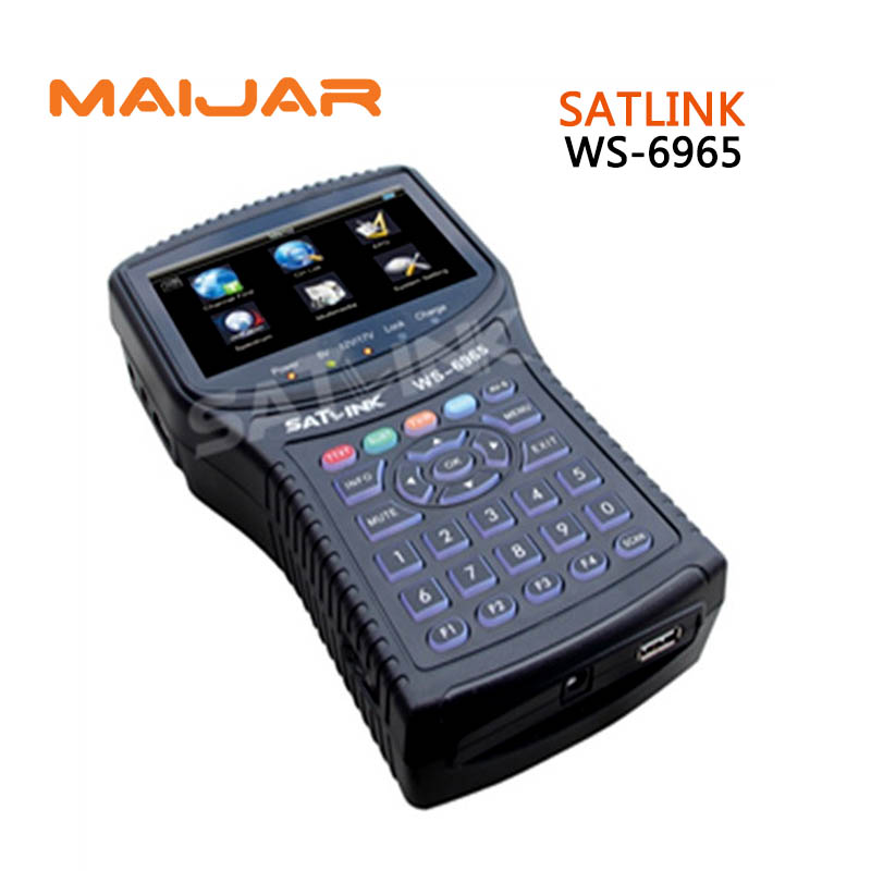 Original Satlink WS-6965 digital satellite meter fully DVB-T&DVB-T2 MPEG-2/MPEG-4 compliant Spectrum Analyzer Finder WS6965