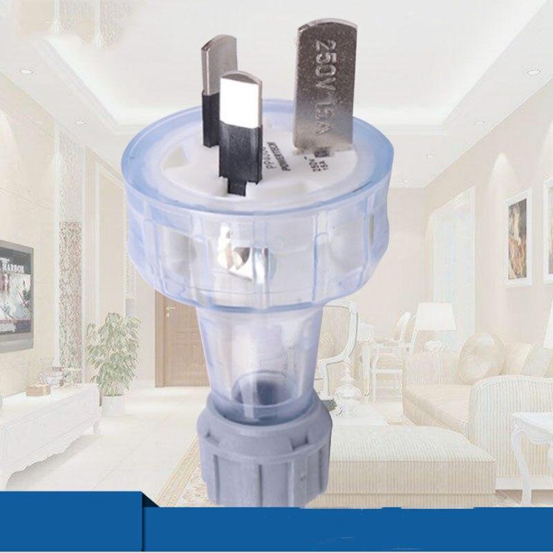 5PCS 250V 15A Australian Power Cord  Male Plug Socket Electrical Removable Extension