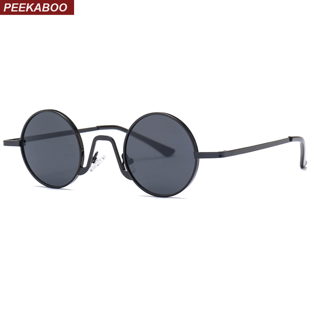 Peekaboo small vintage sunglasses men retro round 2018 metal frame ...