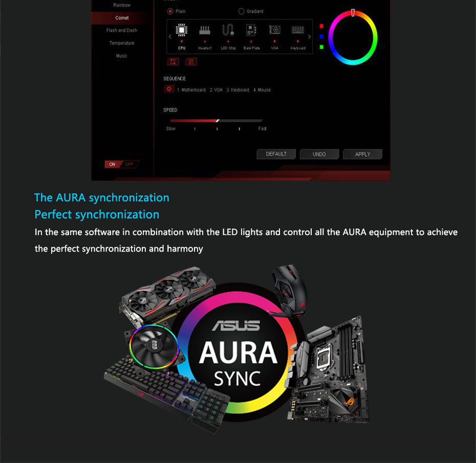 US $15 7 |Pccooler Halo 12cm Case Cooler Fan 4 Pin PWM With RGB LED Light  Support ASUS AURA For CPU Cooler-in Fans & Cooling from Computer & Office  on