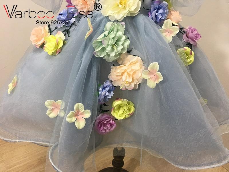 VARBOO_ELSA 2017 Flower Girls Jurken voor bruiloften custom Blue - Bruiloft feestjurken - Foto 5
