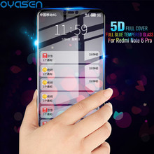 5D Full Curved Tempered Glass For Xiaomi Redmi Note 6 Pro 6.26'' 9H Explosion-proof Screen Protector For Redmi Note 6 Pro Global 5d full curved tempered glass for xiaomi redmi note 6 pro 6 26 9h explosion proof screen protector for redmi note 6 pro global
