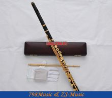 лучшая цена  African Blackwood Grenadilla Flute-B foot-Open Hole-Split-E-Offset-G-Gold Plated WITH case