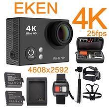 Original EKEN Ultra 4 K yi 1080 P 60fps 25FPS WiFi 4 K sj 2 5000 h9 mi h9R Acción cámara ir Cam pro hero 4 impermeable del deporte cámara