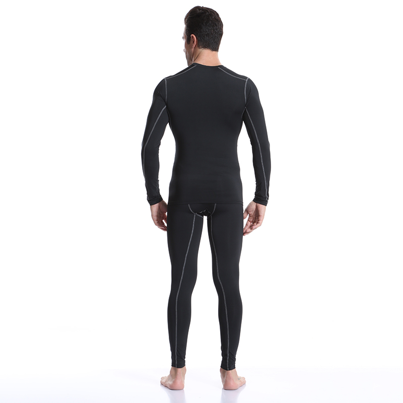 Image 5 - Yuerlian 2 pcs Fitness Tights Running Set Quick Dry Gym Sportswear Long Sleeve T Shirt Legging Pants Tracksuit Men Sports Suits-in Running Sets from Sports & Entertainment on AliExpress
