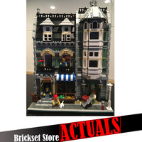 2462pcs 15008 Lepin City Street Creator Green Grocer Model Action Figures Building Blocks Bricks Toys For
