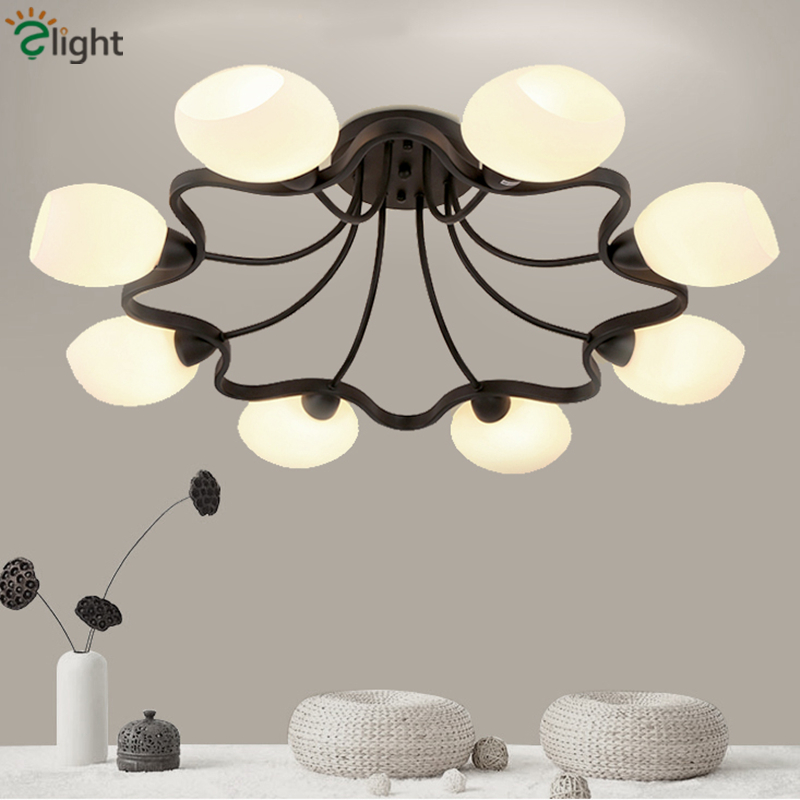 2016 Classic Nordic Frosted Glass Ball Wintersweet Chandelier Led 4 Head 6 Head Round  Iron Chandelier For Dining Room Bedroom