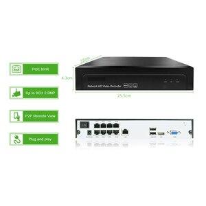Image 3 - 8ch 1080P POE zestaw H.265 System CCTV bezpieczeństwo 9ch NVR 2.0MP zewnętrzna wodoodporna kamera IP nadzór alarmowy wideo P2P G.Craftsman