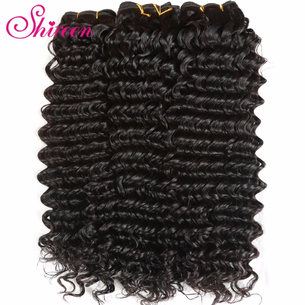Shireen Hair With Closure 4PCS/LOT Malaysian Deep Wave Bundles with Closure Remy Human Hair Bundles With Closure 4*4 Free Part