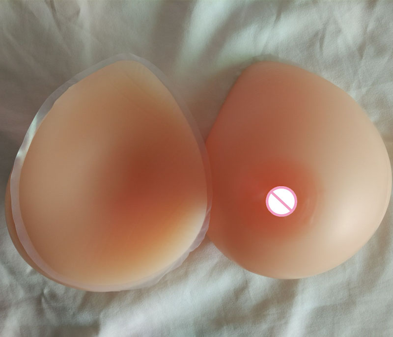 500g pair A cup drag queen false breasts prosthesis silicone boobs Nude Skin tone real soft tounch