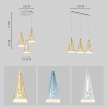 Modern Glass Pendant Lights, Conical Designed Hanging Lamps