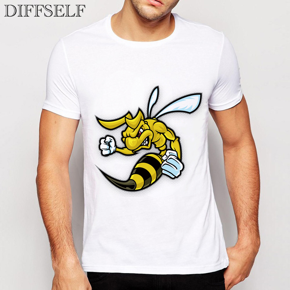 DIFFSELF 2016 New Design Fashion Hornets T Shirts Hombre
